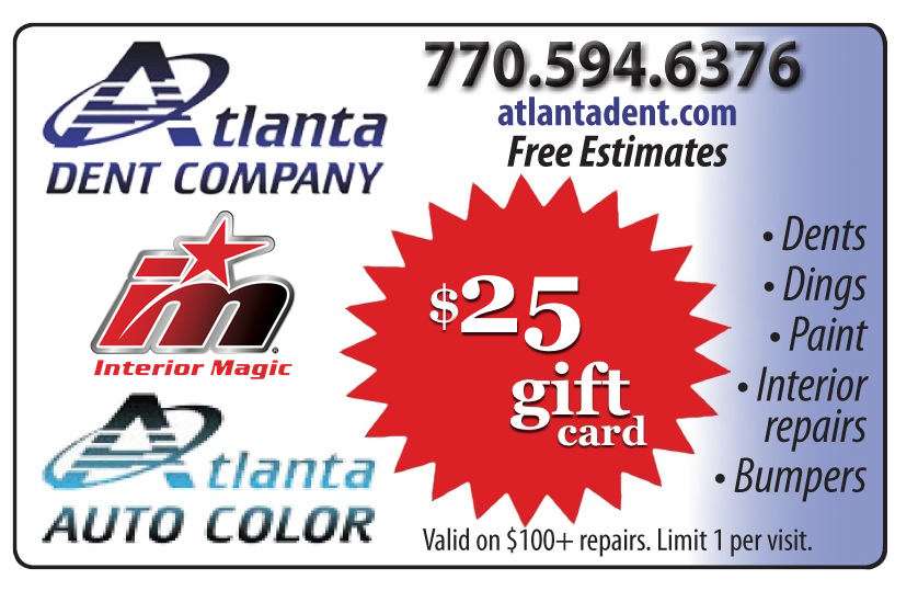 $25 Off Coupon - Atlanta Dent Company