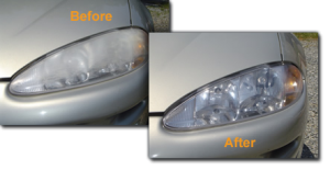 Oxidized headlights can be restored like new.