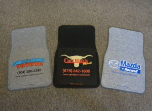 Installation of customized floor mats | Magic Finish | Roswell, Georgia