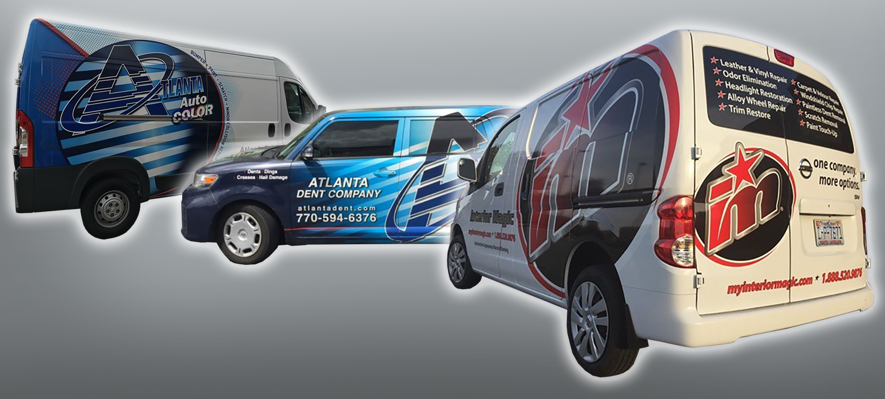 Fleet of Vehicles Atlanta Dent, Atlanta Auto Color, Interior Magic