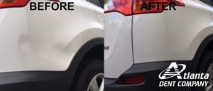 Dent Repaired On A Toyota