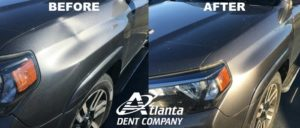 Crease Dent Disappears